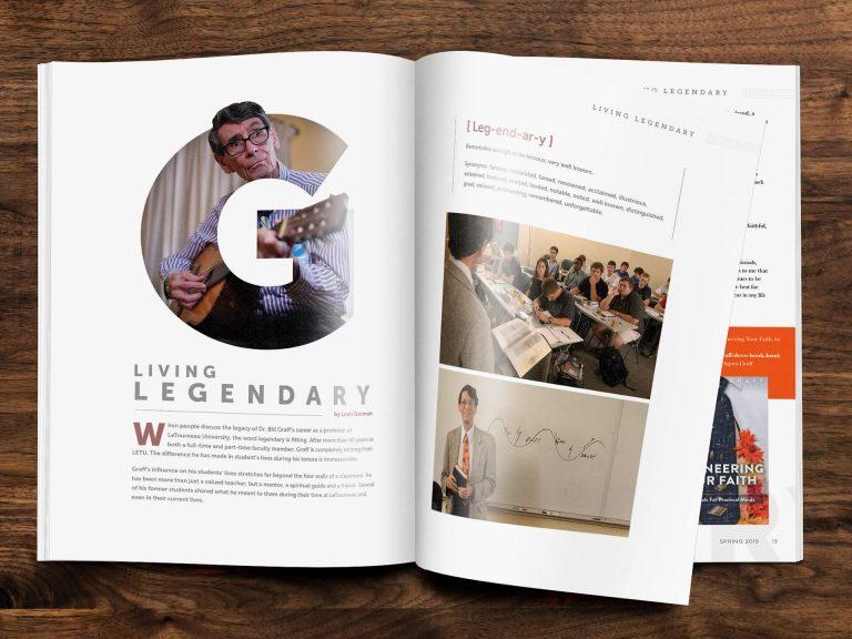Living Legendary Magazine Spread