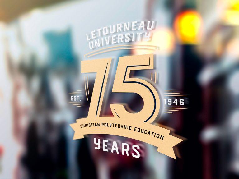 LETU 75th Anniversary Logo